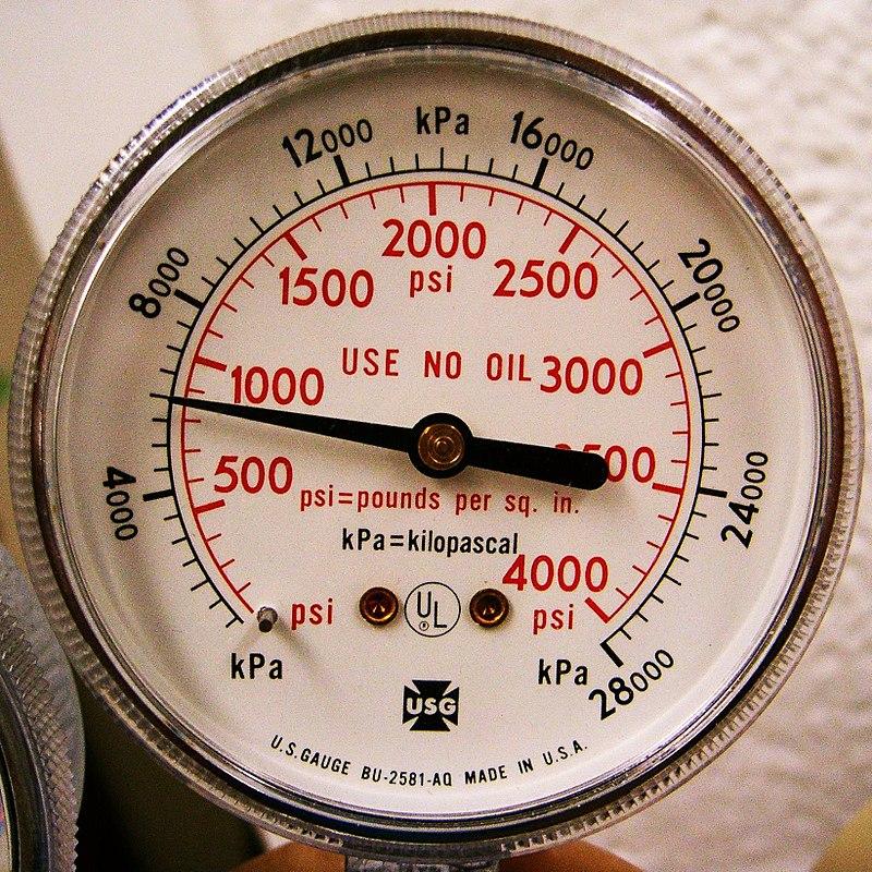 đồng hồ đo áp lực đột của máy đột lỗ cầm tay