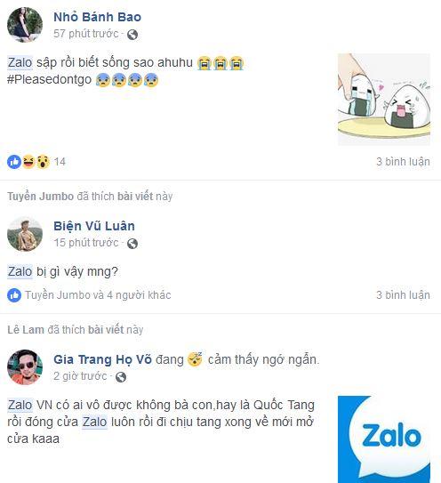 Các bình luận xung quanh sự cố Zalo