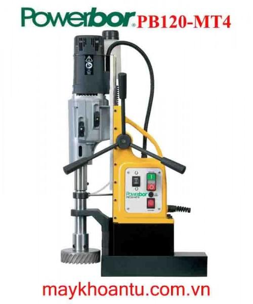 MÁY KHOAN TỪ Powerbor PB120-MT4| Khoan và ta rô 2 trong 1